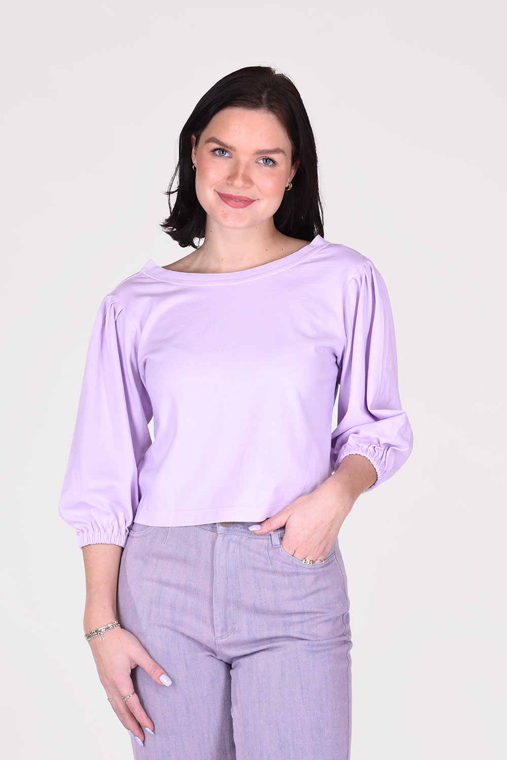 Forte_Forte t-shirt 8109 paars
