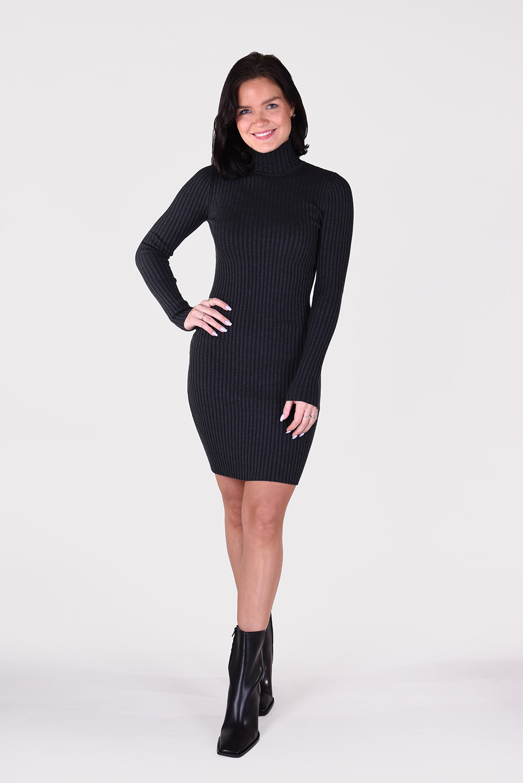 Wolford jurk Merino Rib 52770 grijs