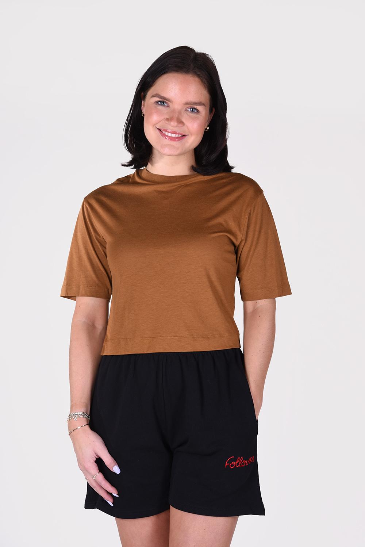 Vince t-shirt Wide Crop Tee V646483440 cognac