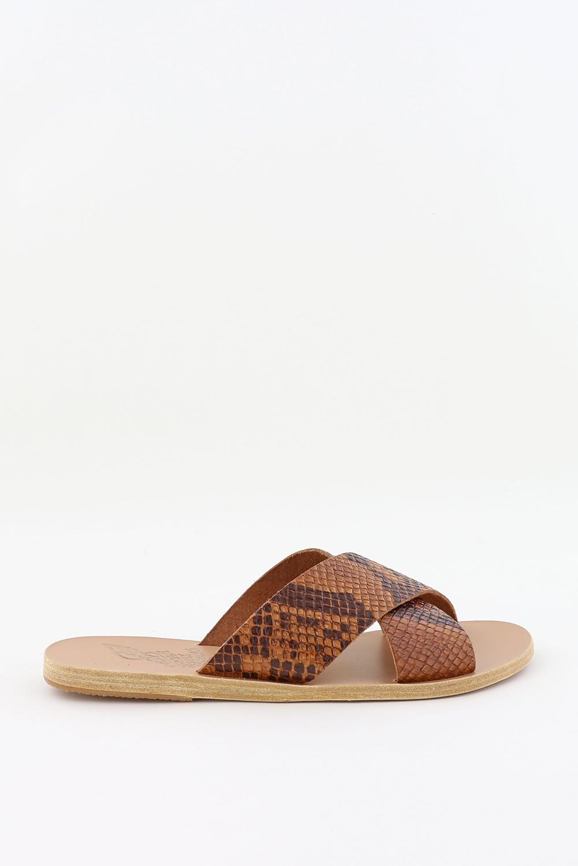 Ancient Greek Sandals slippers Thais dierenprint