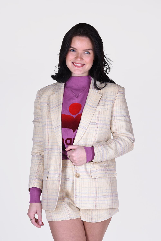 Isabel Marant blazer Ilindae VE1513 21P012E geel