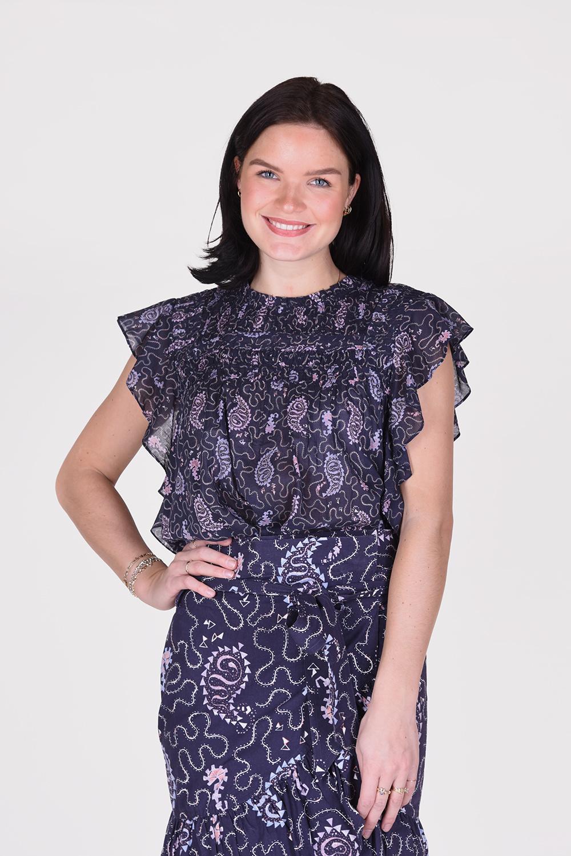 Isabel Marant blouse Layona HT1541 21P031E blauw