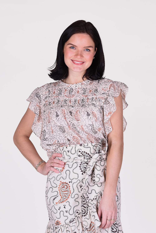 Isabel Marant blouse Layona HT1541 21P031E ecru