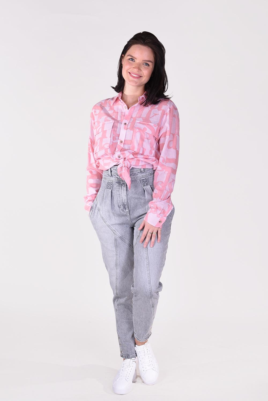 Nanushka blouse Phin NM21RSSH01141 roze