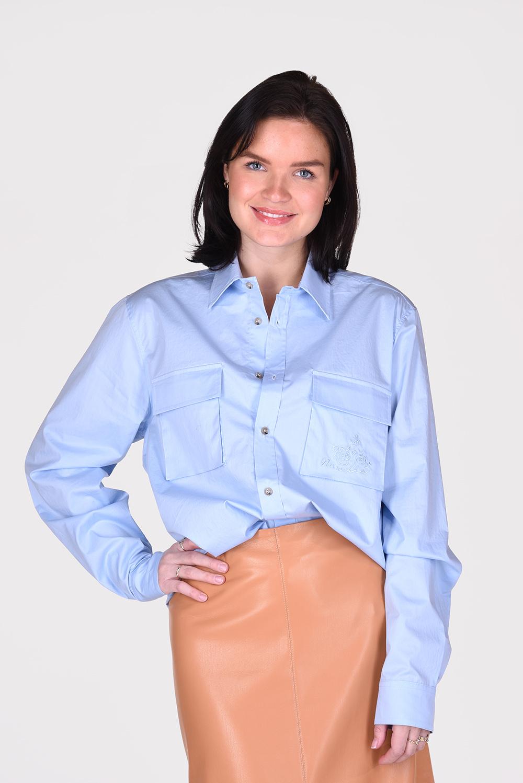 Nanushka blouse Phin NM21RSSH01152 blauw