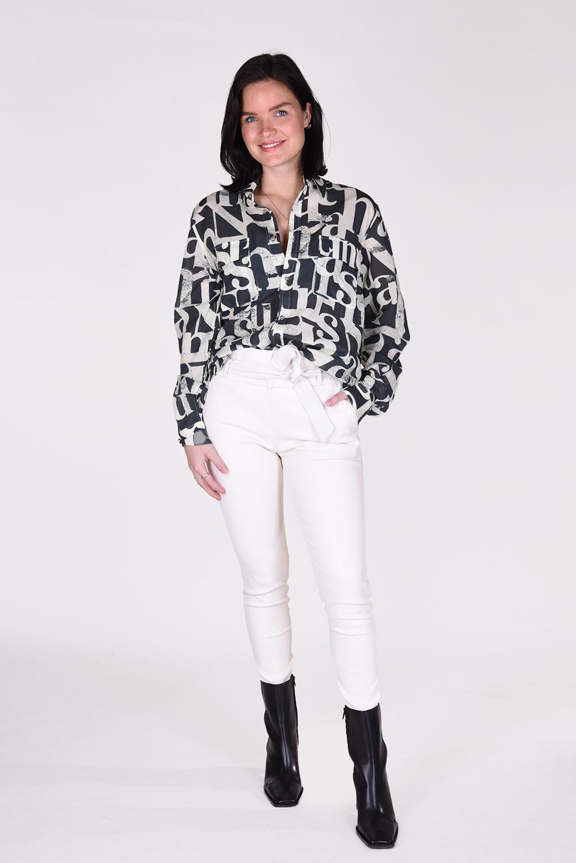 Nanushka blouse Phin NM21RSSH01197 zwart