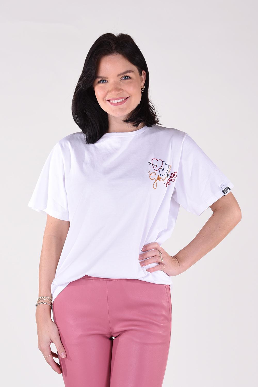Golden Goose t-shirt Aira GWP00615.P000355 wit
