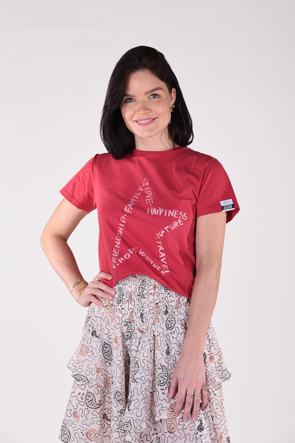 Golden Goose t-shirt Ania GWP00745.P000420 rood