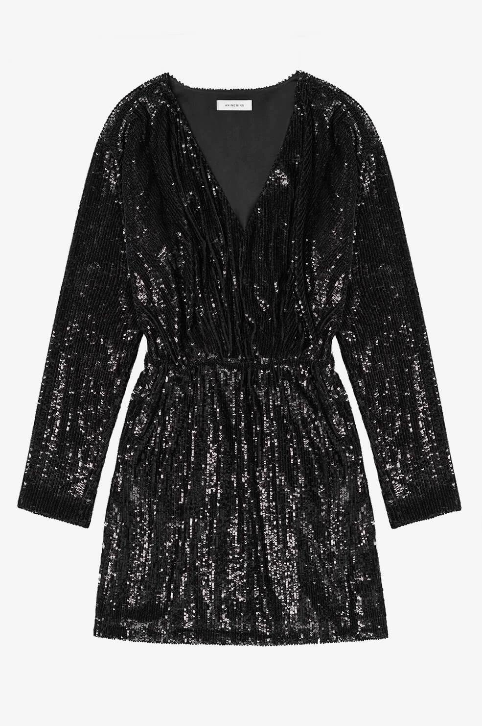 Anine Bing jurk Elena A-02-1158-005 zwart