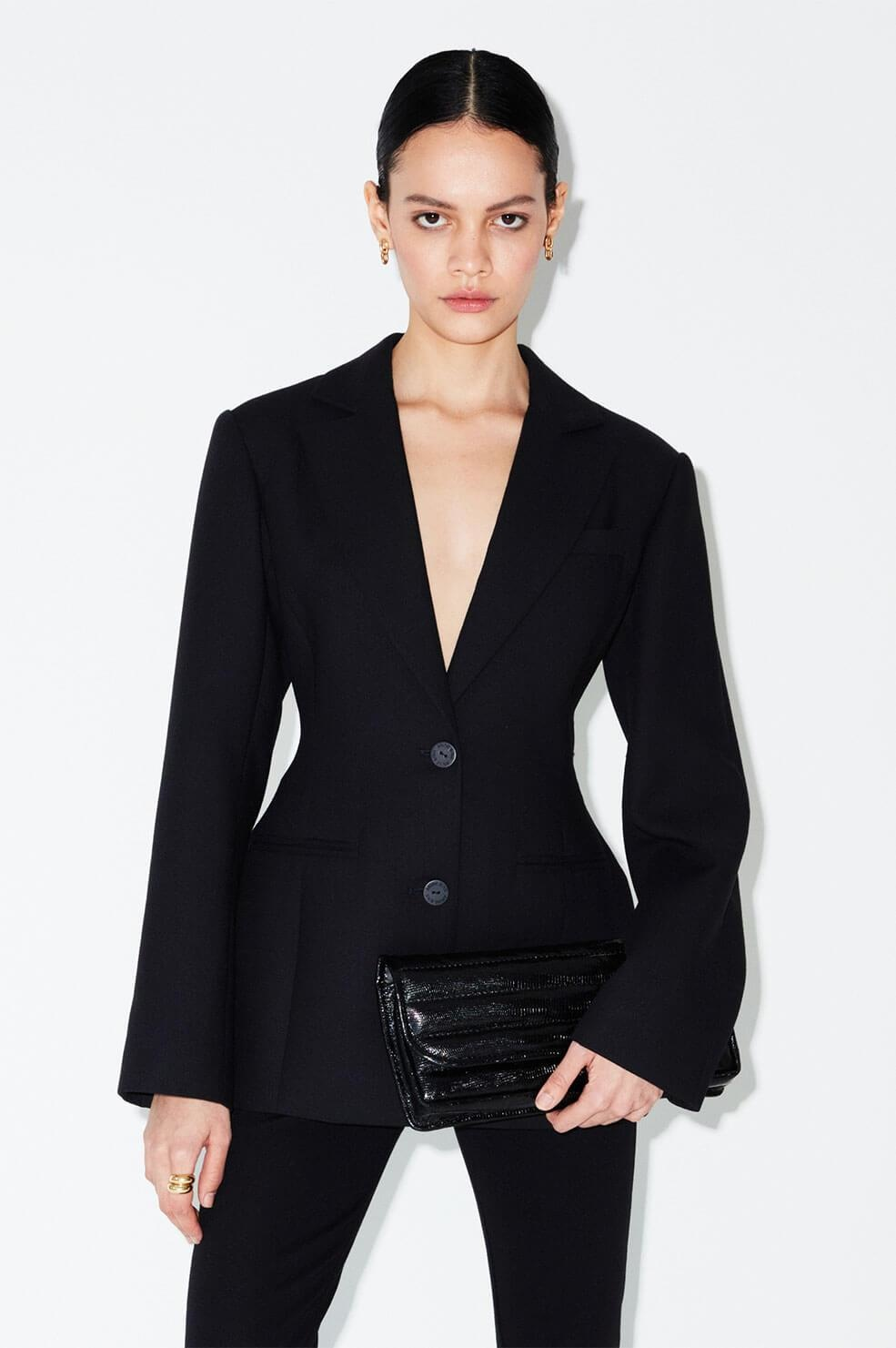 Anine Bing blazer Robyn A-01-7062-000 zwart