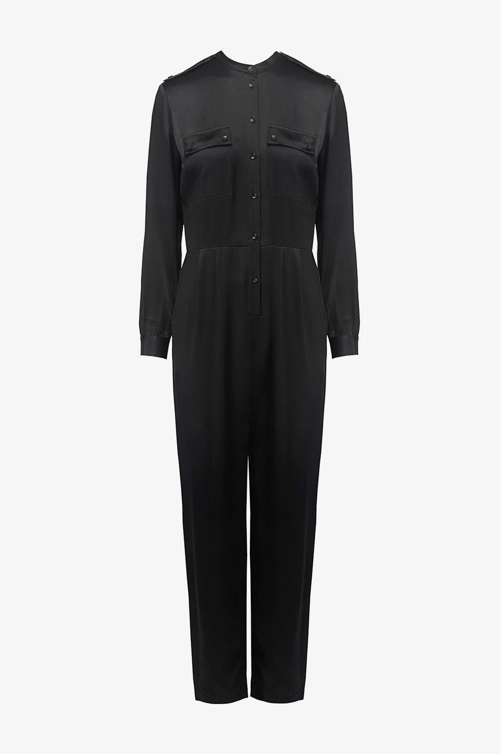 Anine Bing jumpsuit Rosalie A-02-9160-000 zwart