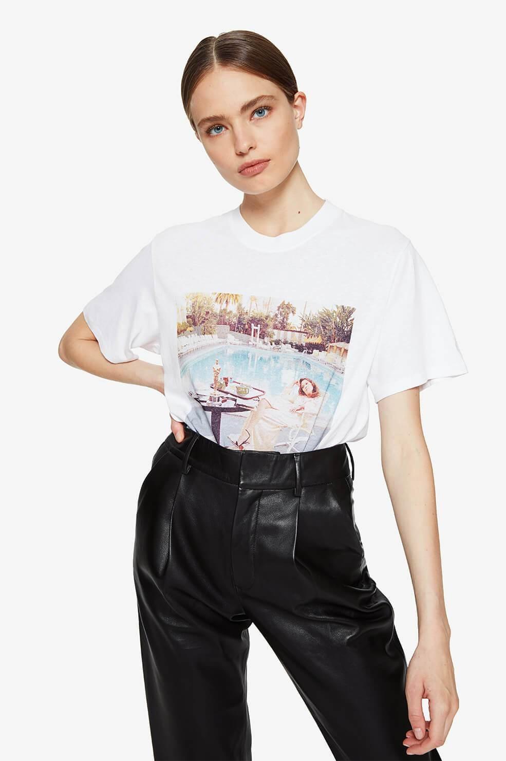 Anine Bing t-shirt Lili Tee AB X TO F A-08-2140-142 wit