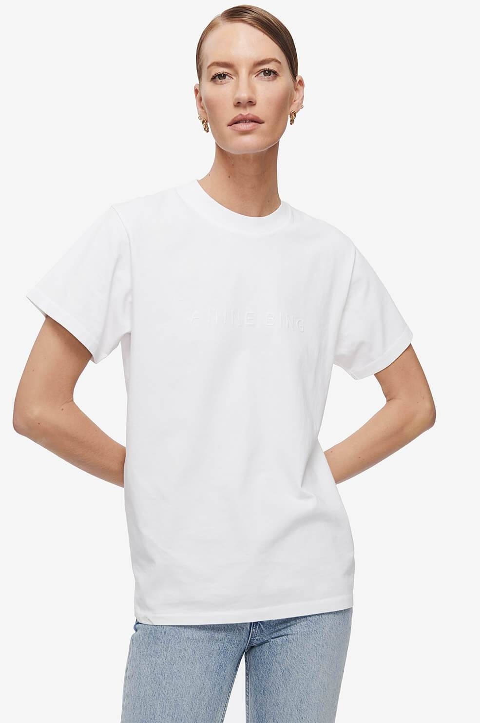 Anine Bing t-shirt Lili A-08-2140-109 wit