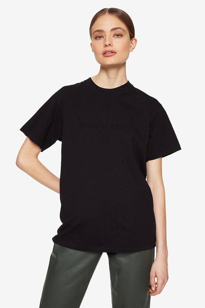 Anine Bing t-shirt Lili Tee A-08-2140-004 zwart