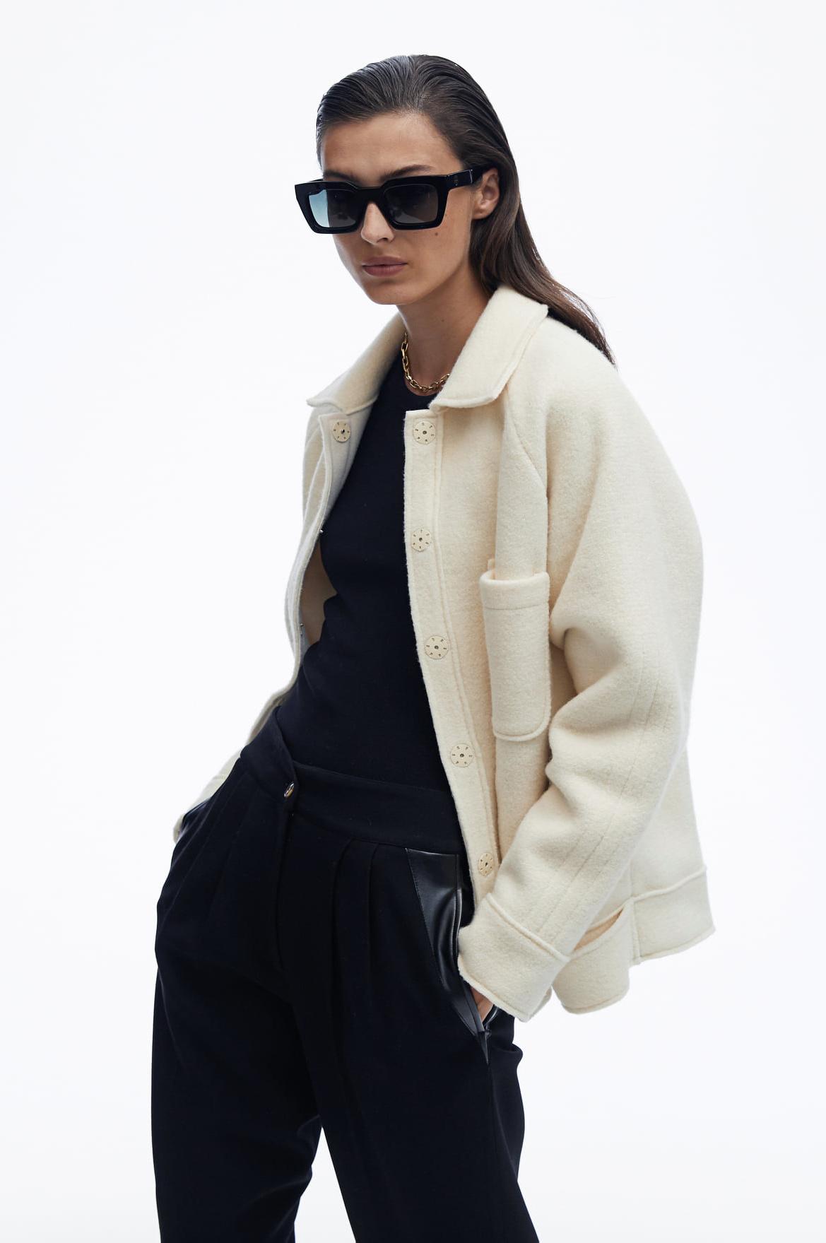 Anine Bing jas Jaden Jacket A-01-7058-100 wit