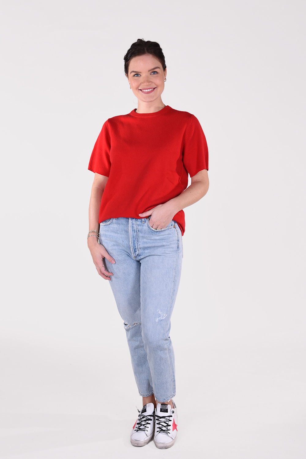 Extreme Cashmere top Tshirt 64 rood
