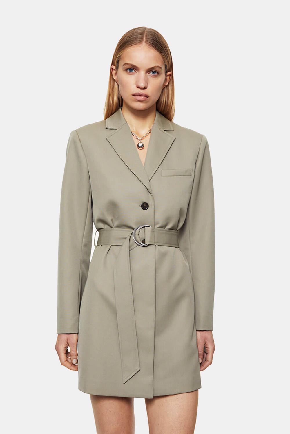 Anine Bing jurk Campbell A-02-1166-250 groen