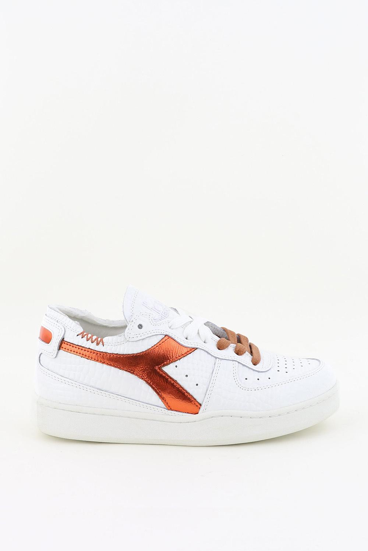 Diadora Heritage sneakers Mi Basket Row Cut 201.177159 wit/cognac