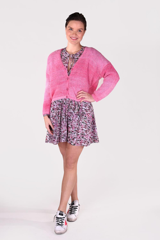 Les Tricots de Lea vest Gurietta roze