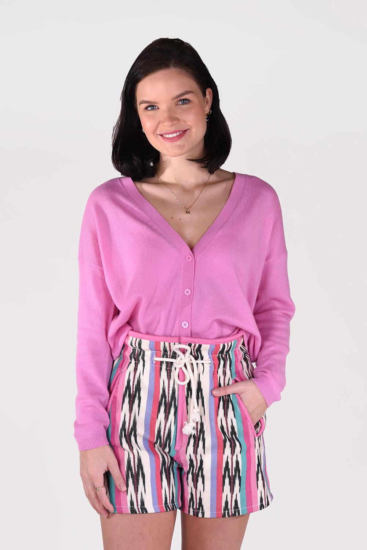 Les Tricots de Lea vest Gienna roze