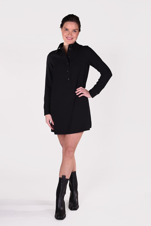 Ganni jurk F5804 zwart