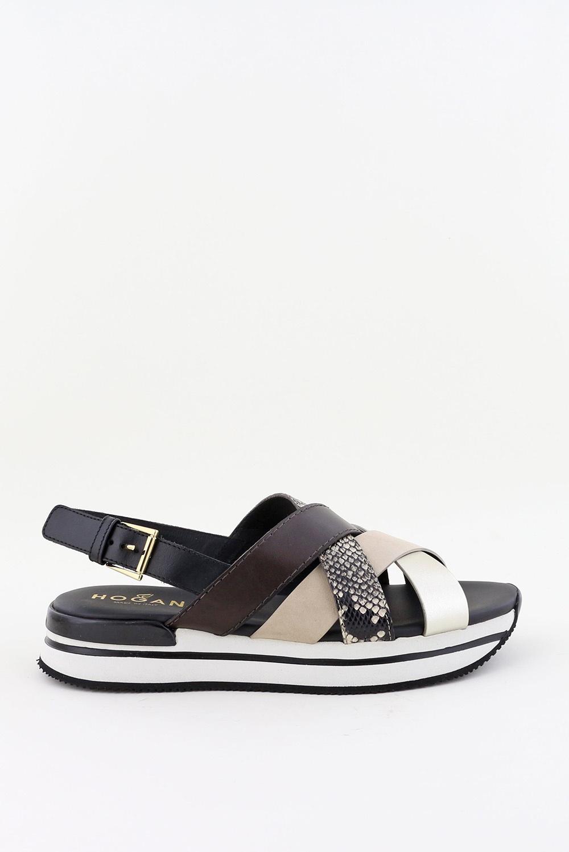 Hogan sandalen HXW2570DK80 zwart