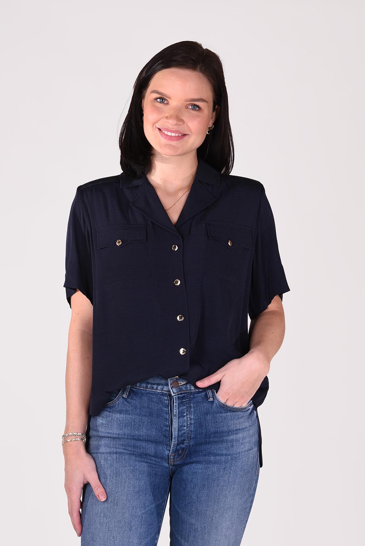 Ganni blouse F5832 blauw