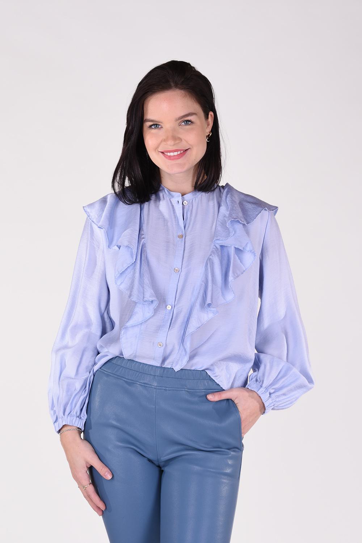 Forte_Forte blouse 8067 blauw