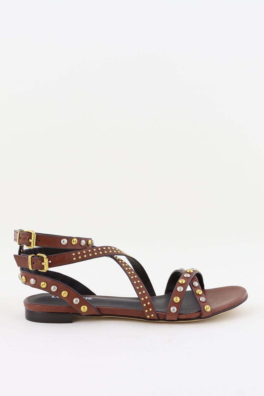 Lola Cruz sandalen 112Z12BK bruin