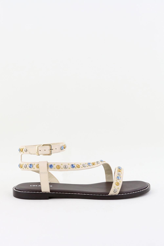 Lola Cruz sandalen 111Z12BK crème