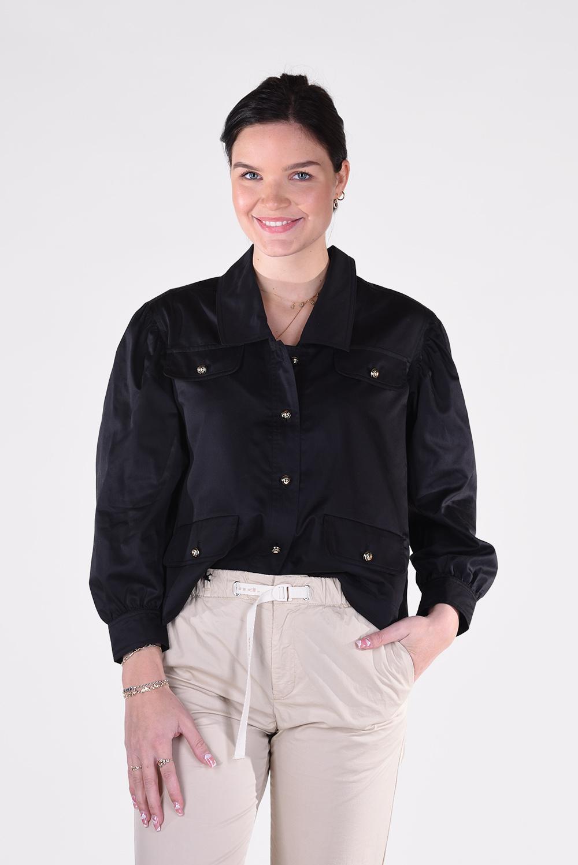 Les Coyotes de Paris blouse Catherin 215-20-037 zwart