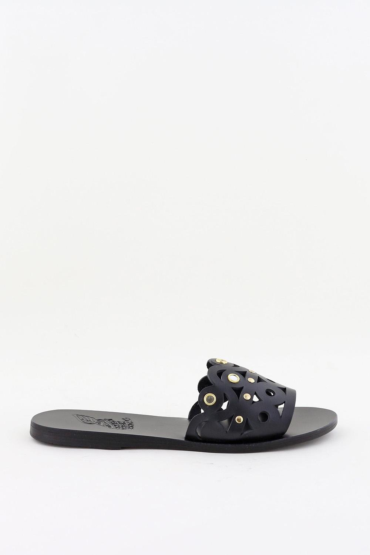 Ancient Greek Sandals slippers Maistros Mirrors zwart