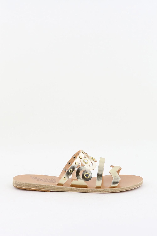 Ancient Greek Sandals slippers Meltemi Mirrors goud