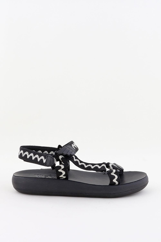 Ancient Greek Sandals sandalen Poria zwart