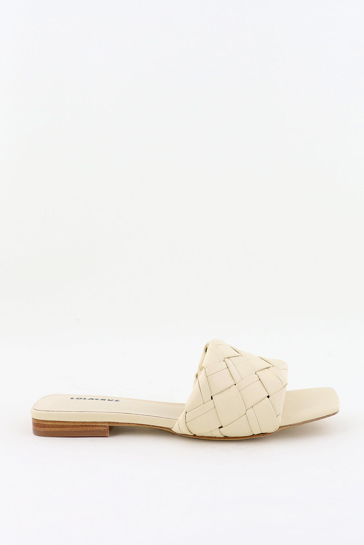 Lola Cruz slippers 159Z14BK crème