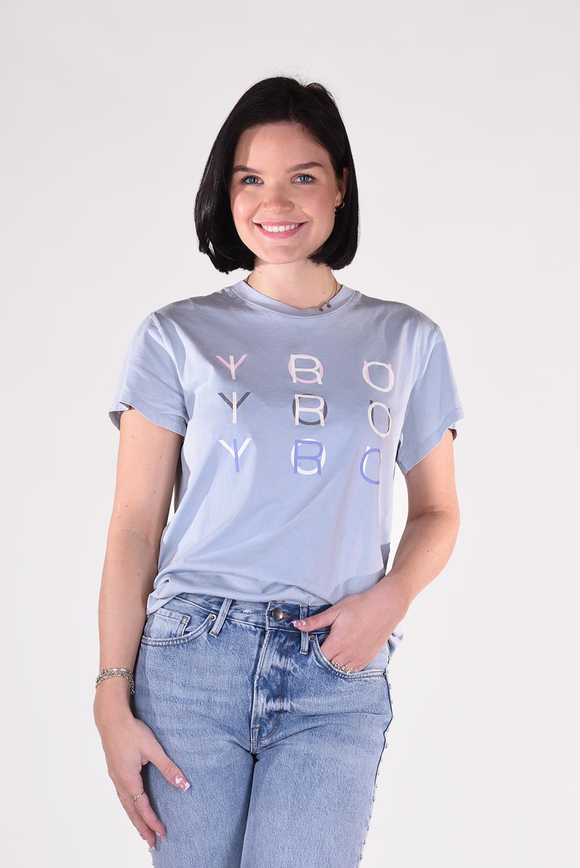 IRO t-shirt Iroyoux WM19IROYOUX blauw