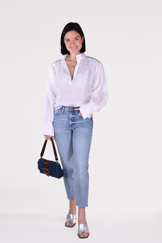 FRAME blouse Emma LWSH2089 wit