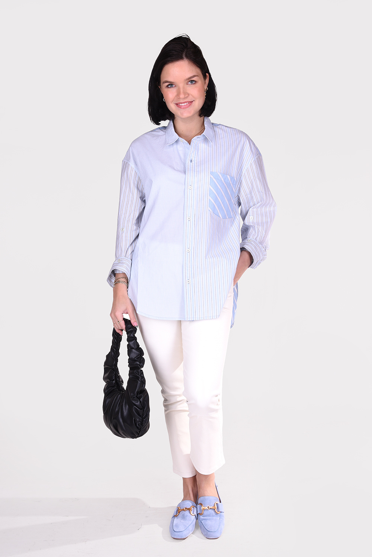 Citizens of Humanity blouse Kayla 9103B-1108 blauw