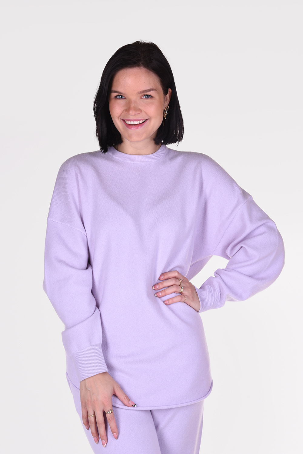 Extreme Cashmere trui Crew Hop 53 paars