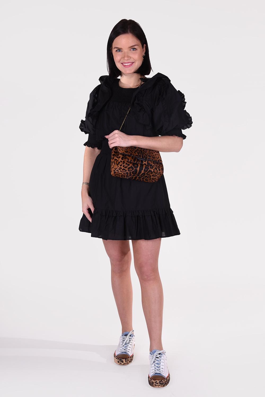 Magali Pascal jurk Petal D17 zwart