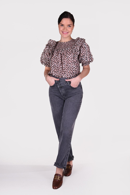 Agolde jeans Criss Cross A097B-1157 grijs