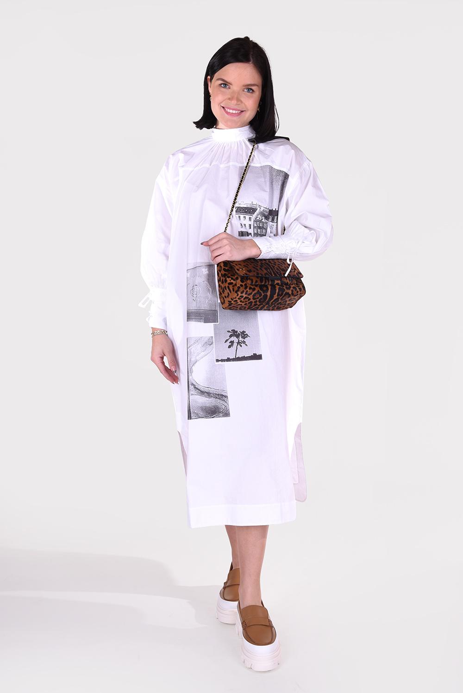 Ganni jurk F5900 wit