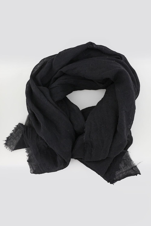 Bianca van Leur shawl wol zwart