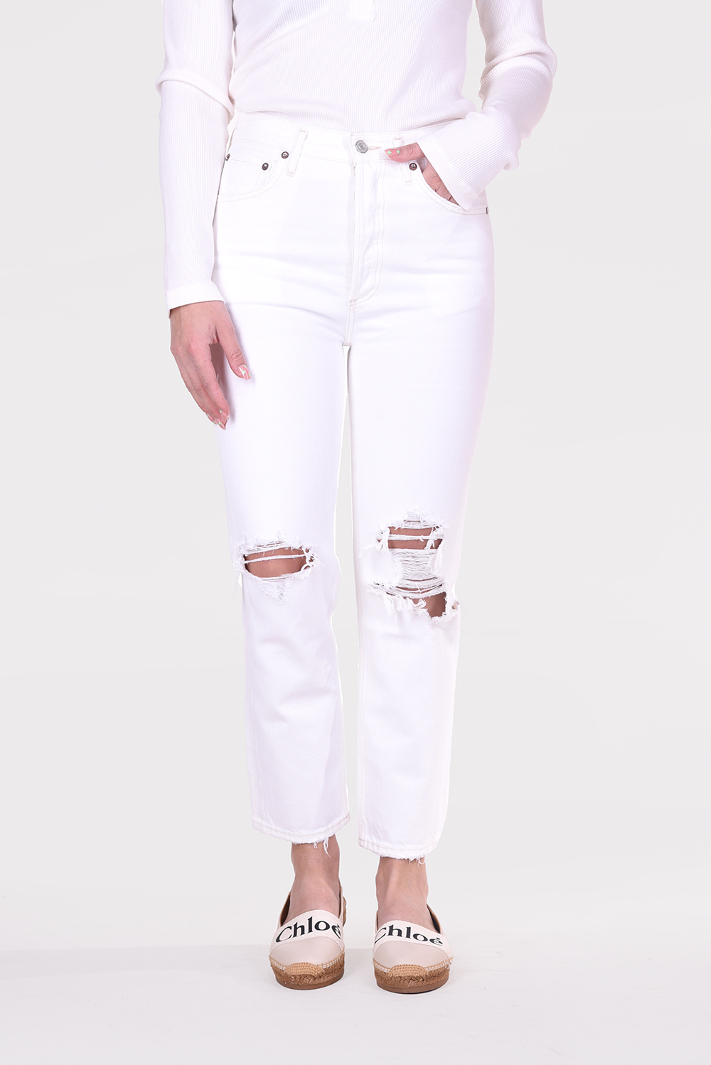 Agolde jeans Riley A056C 1183 wit