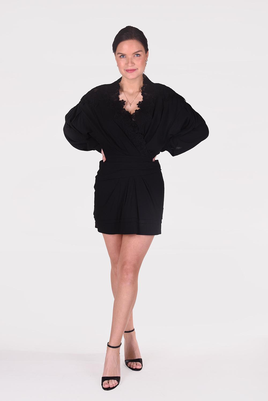 IRO jurk Coya WP33COYA zwart