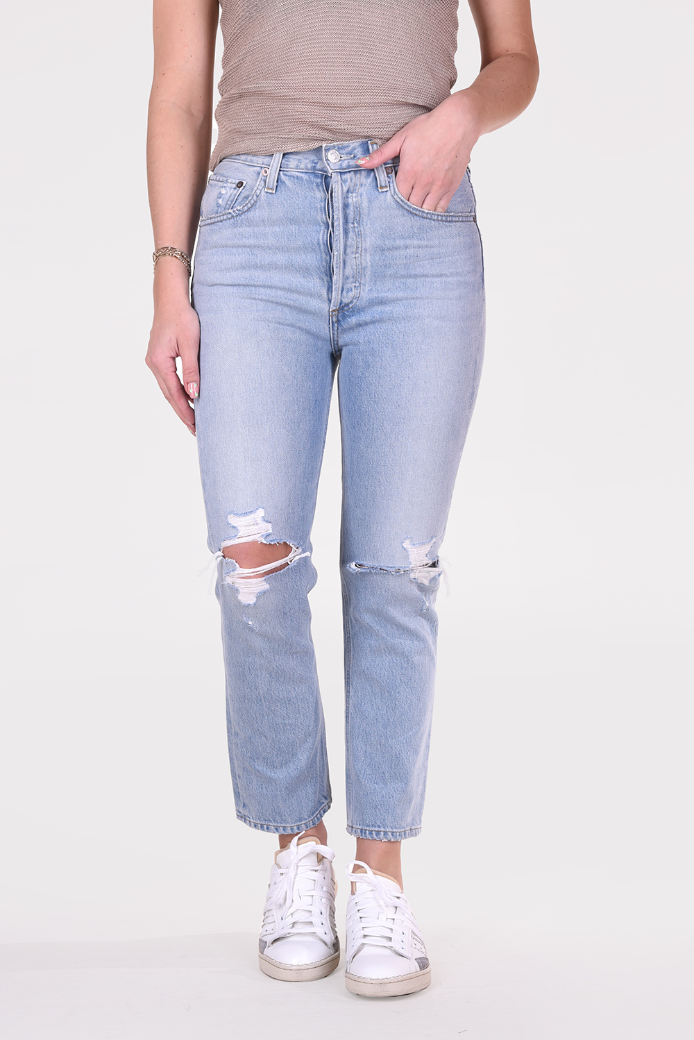 Agolde jeans Riley A056-1141 blauw
