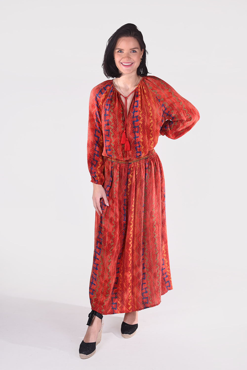 Sissel Edelbo jurk Feather Dress SE646 multicolour 3