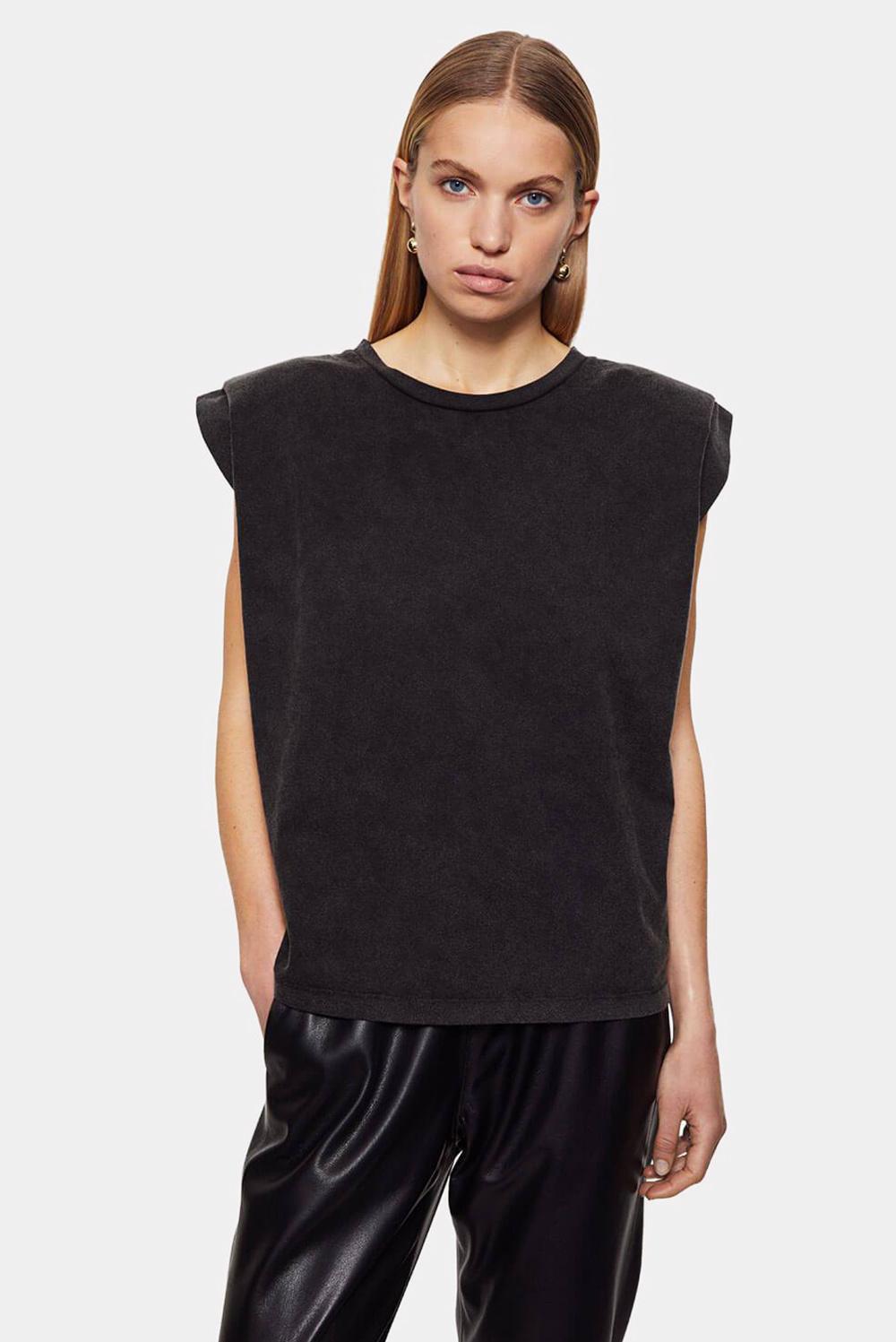 Anine Bing t-shirt Tanner A-08-2169-010 zwart