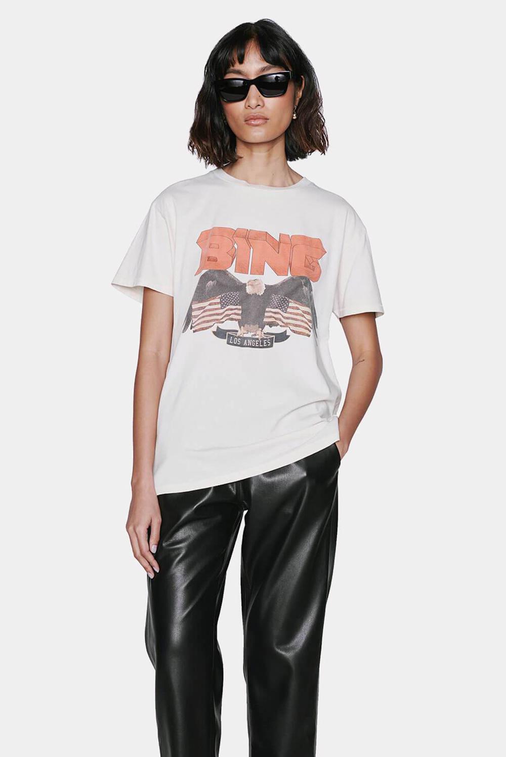 Anine Bing t-shirt Vintage Bing A-08-2001-100 wit