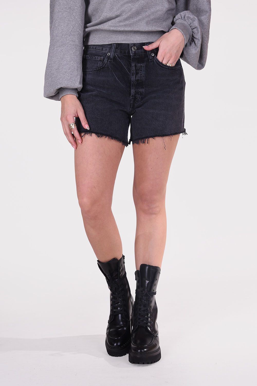 Agolde short Parker Long A9010-1157 zwart